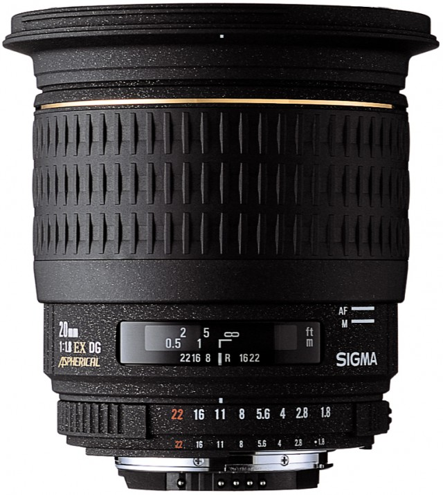 sigma AF 20mm F1.8 EX DG DF - 1